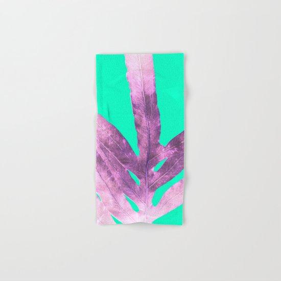 Lavender Fern on Mint Green Winter Wonderland Hand & Bath Towel
