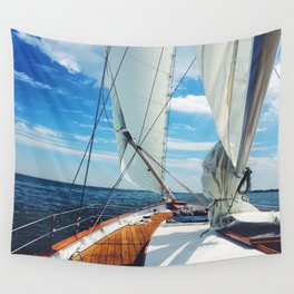 Sweet Sailing - Sailboat on the Chesapeake Bay in Annapolis, Maryland Wall Tapestry
