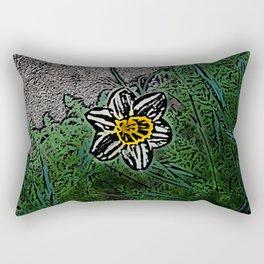 Surreal White Daisy  Rectangular Pillow