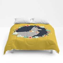 lovely llama Comforters