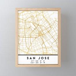 SAN JOSE CALIFORNIA CITY STREET MAP ART Framed Mini Art Print