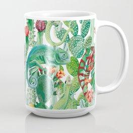 chameleon cacti pattern Coffee Mug