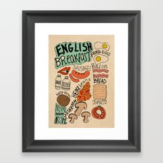 English Breakfast Framed Art Print
