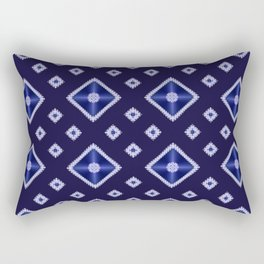 Blue Diamond Pattern Rectangular Pillow