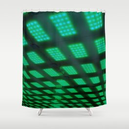 Green ceiling Shower Curtain