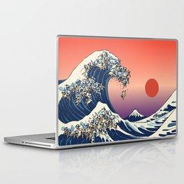 The Great Wave of Pug Laptop & iPad Skin