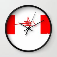 canada Wall Clocks featuring Canada by StazKnak