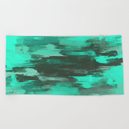 Chill Factor - Abstract in blue Beach Towel