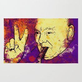Famous People - Winston Churchill Rug