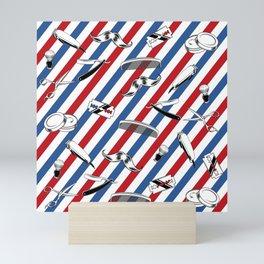 Barber Shop Pattern Mini Art Print