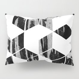 Elegant Black and White Geometric Design Pillow Sham