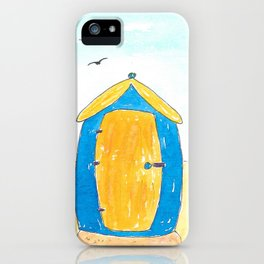 Hayling Island Beach Huts iPhone Case