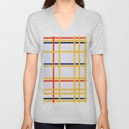 New York City - Piet Mondrian Unisex V-Neck