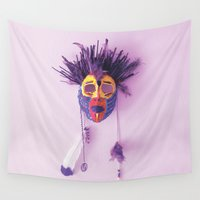 mask Wall Tapestries featuring Mask by viettriet