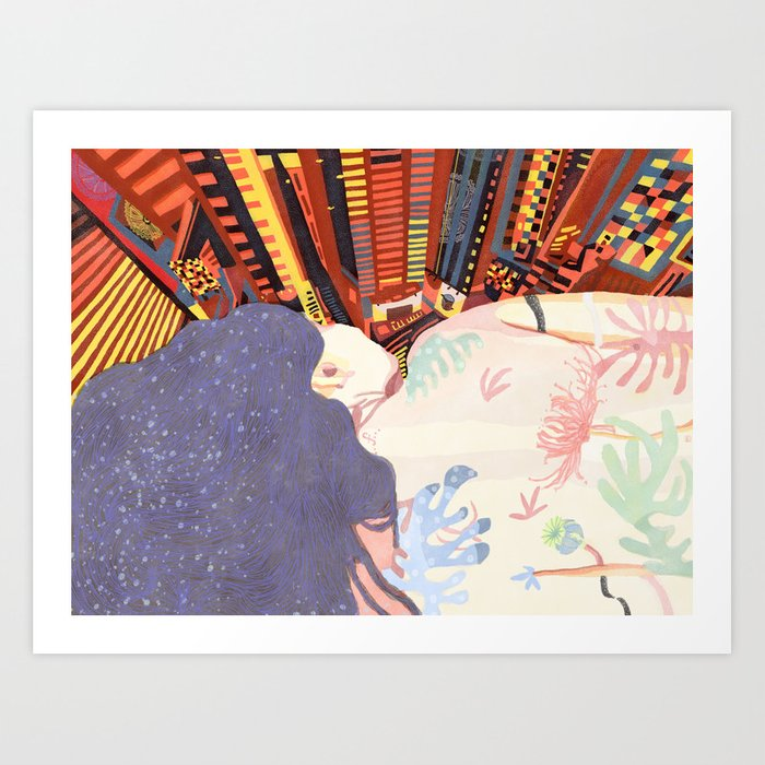 I Wanna Get Away From the City Art Print