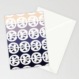 Mangopare Kowhaiwhai Design, Black to Cream Stationery Cards