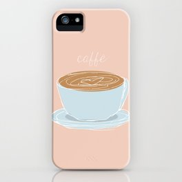Italian coffee sketch iPhone Case