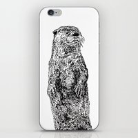 otter iPhone & iPod Skins featuring Otter by Meredith Mackworth-Praed