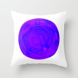 purple pink watercolor swirl sphere Throw Pillow