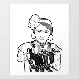 Ouled Naïl Woman Art Print