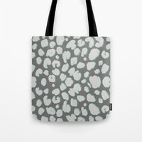 dino Tote Bags featuring DINO by LAUREN WALKER
