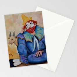 The Clown Canicas and Monchito the goat El Canicas y Monchito Oil on Canvas Original Kinkin Stationery Cards