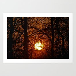 Sunset in Conway Art Print