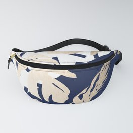 Simply Tropical Nautical Navy Memphis Palm Leaves Fanny Pack