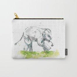 Splashy baby elephant Carry-All Pouch