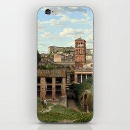 Christoffer Wilhelm Eckersberg View of the Cloaca Maxima, Rome iPhone Skin