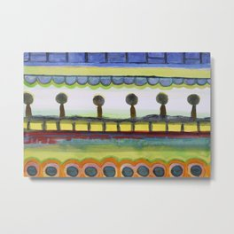 The Seaside Promenade Metal Print