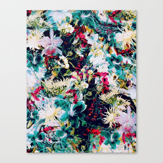 RPE ABSTRACT FLORAL -IV Canvas Print