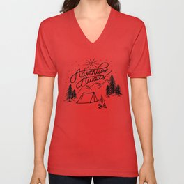 Adventure Awaits! Unisex V-Neck