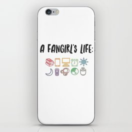 the fangirl life iPhone Skin
