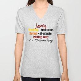 Funny Laundry Lazy Bum Hate Chores Honest Truth Meme Unisex V-Neck