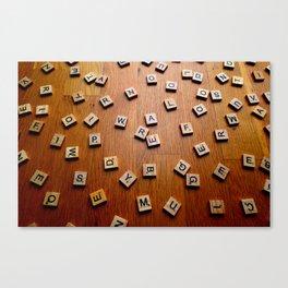 Scrabble letters Canvas Print