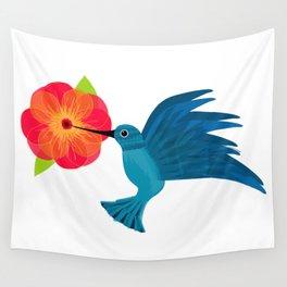 Hummingbird in Flight Wall Tapestry