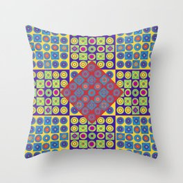 Brite Combo (Acrylic Painting on Paper No. 4) Throw Pillow