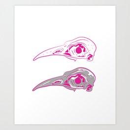 bird skulls are cool now Art Print