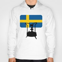 sweden Hoodies featuring Sweden flag | Pressure stove by mailboxdisco