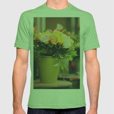 Vintage roses Mens Fitted Tee Grass SMALL