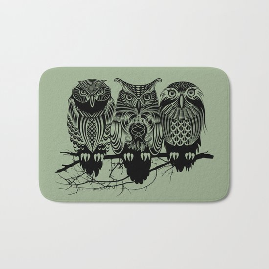 Owls of the Nile Bath Mat