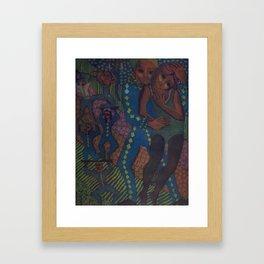 Equilibrists #2, etching, 1995 Framed Art Print