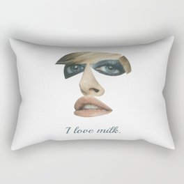 I love milk Rectangular Pillow
