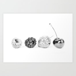 Silver fruits Art Print
