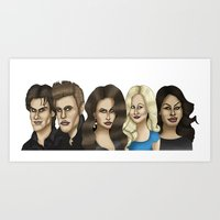vampire diaries Art Prints featuring The Vampire Diaries Caricature Artwork by GinjaNinja1801
