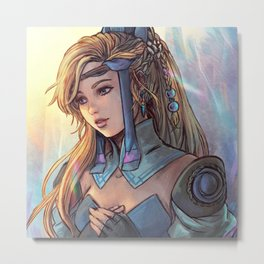 (Another) Sara from Final Fantasy III (1990) Metal Print