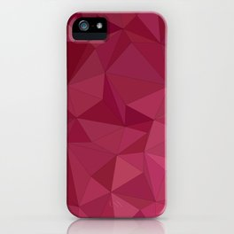 Maroon triangle tiles iPhone Case