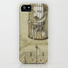 Michel Du Montaigne (1533 - 1592) An Inspirational Philosopher; Prison in the Sky iPhone Case