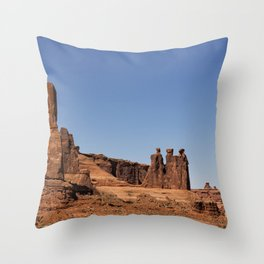 Three Gossips - Arches National Park Throw Pillow